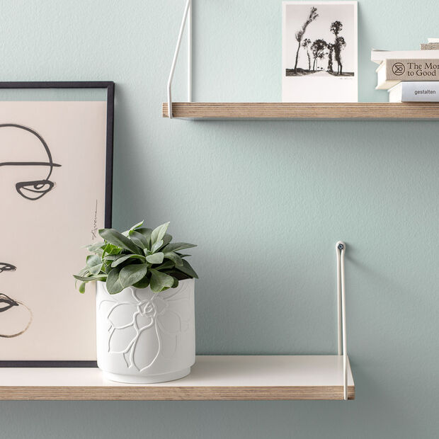 it's my home vaso da fiori Socculent, verde/bianco, , large