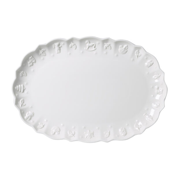 Toy's Delight Royal Classic piatto ovale, bianco, 42 x 29 x 4 cm, , large