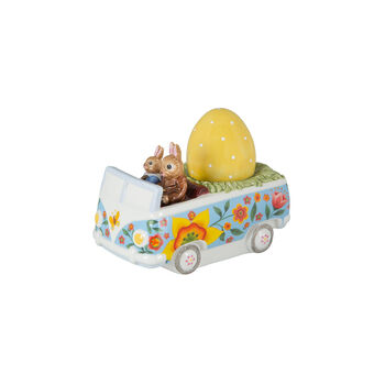 Bunny Tales figura con motivo de autobús, varios colores