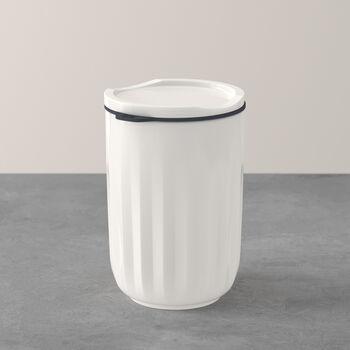 To Go & To Stay bicchiere, con coperchio, 450ml, bianco
