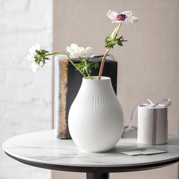 Manufacture Collier blanc Vaso Perle alto 16x16x20cm, , large