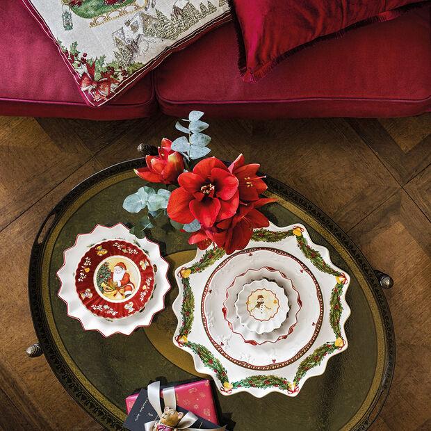 Toy's Fantasy piatto da pasticcini fondo, rosso/multicolore, 39 x 39 x 3,5 cm, , large