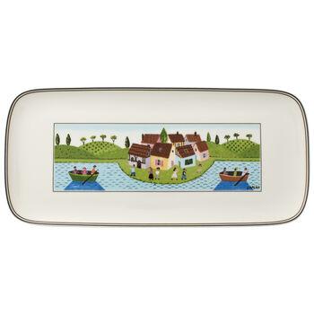 Charm & Breakfast Design Naif fuente rectangular para tartas de 35 x 16 cm