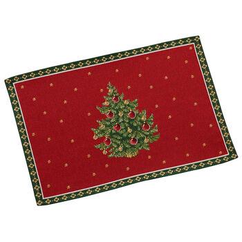 Toy's Delight tovaglietta gobelin, motivo albero, rosso/multicolore, 32 x 48 cm