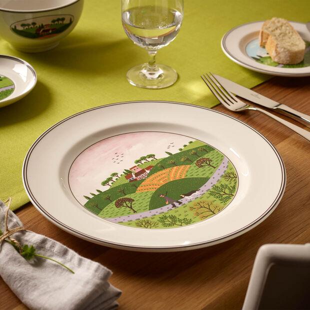 Design Naif plato llano con motivo de cazador, , large