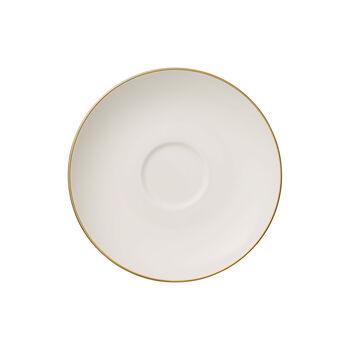 Anmut Gold piattino per tazza da tè, diametro 15 cm, bianco/oro