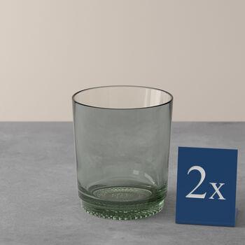 like.by Villeroy & Boch it's my match set di bicchieri da acqua, serie Mineral, verde, 9 x 10 cm, 2 pezzi