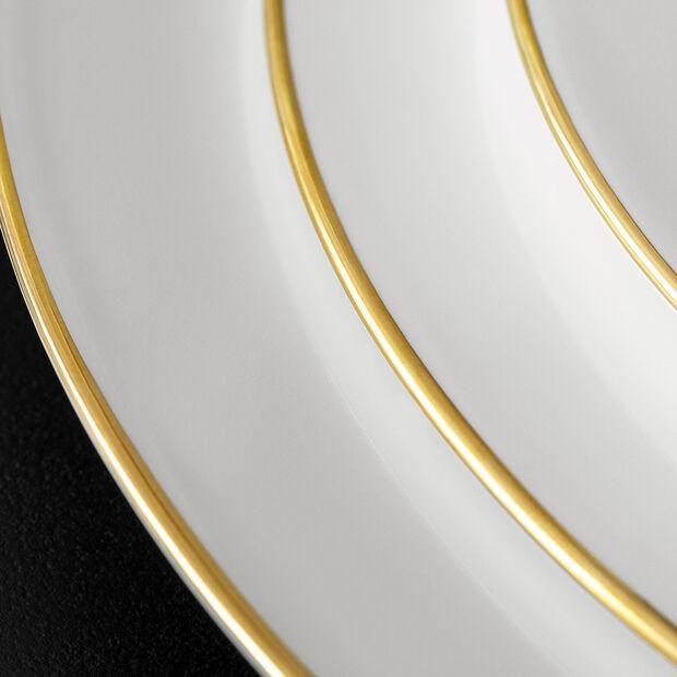 Anmut Gold piatto piano, diametro 27 cm, bianco/oro, , large