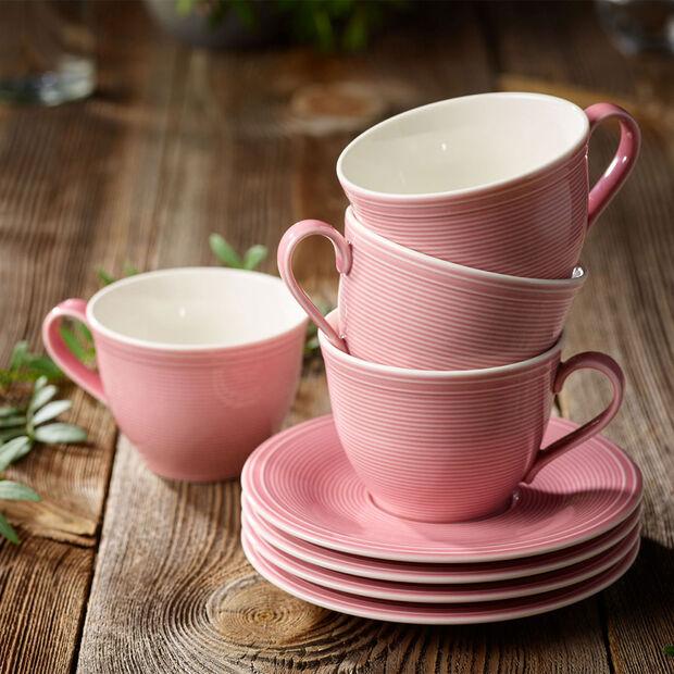 Color Loop Rose piattino per tazza da caffè 15x15x2cm, , large
