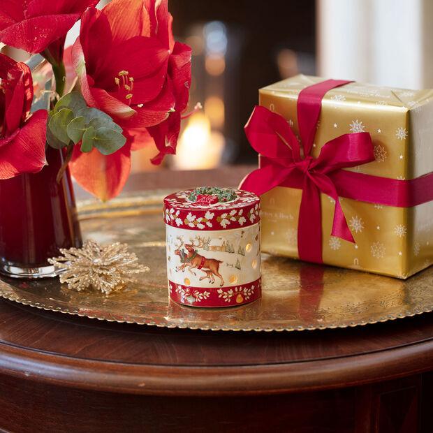 Christmas Toy's figura de paquete de regalo pequeño y redondo, rojo/varios colores, 9,5cm, , large