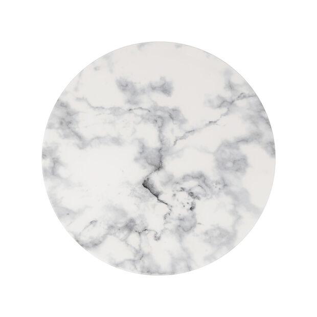 Marmory piatto piano White, 27x27x1,5cm, , large