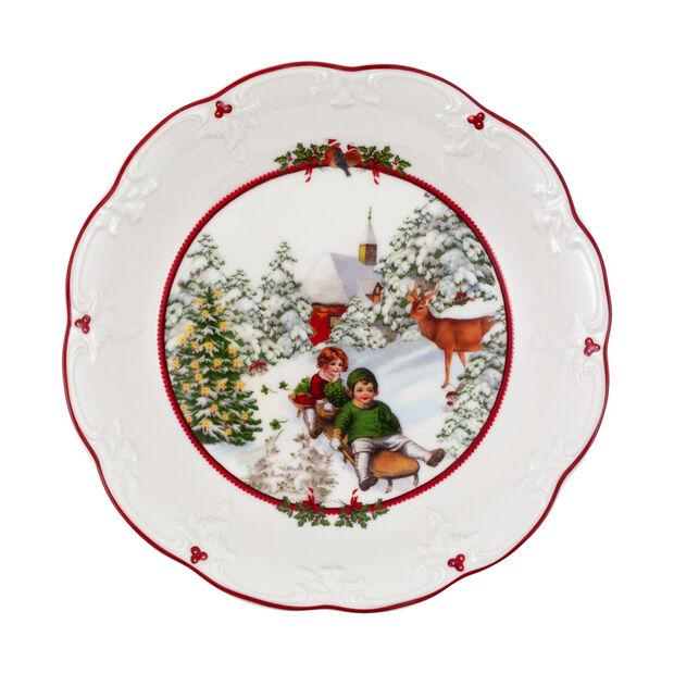 Toy's Fantasy fuente grande con motivo de paseo en trineo, varios colores/rojo/blanco, 24,5 x 24,5 x 4 cm, , large