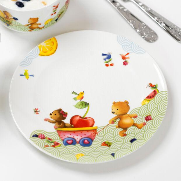 Hungry as a Bear Piatto piano bambini 21,5x21,5x1,5cm, , large