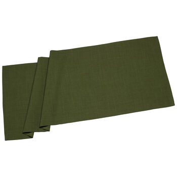 Textil Uni TREND Cam.de mesa verde osc. 50x140cm