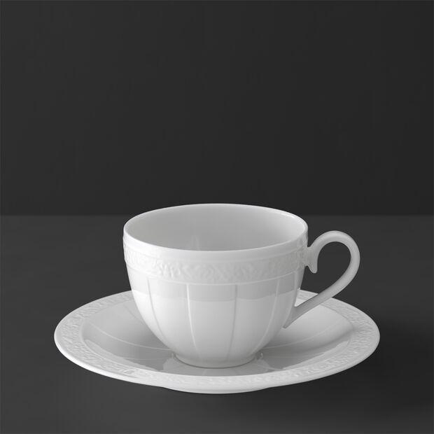 White Pearl Tazza caffè/tè con piattino 2pz., , large