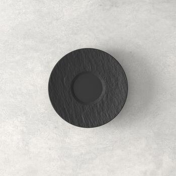 Manufacture Rock platillo para taza de expreso, negro/gris, 12 x 12 x 2 cm
