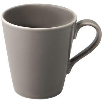Organic Taupe taza grande con asa, marrón topo, 12,5 x 9 x 10 cm