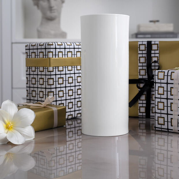 MetroChic blanc Gifts Vaso alto 13x13x30,5cm, , large