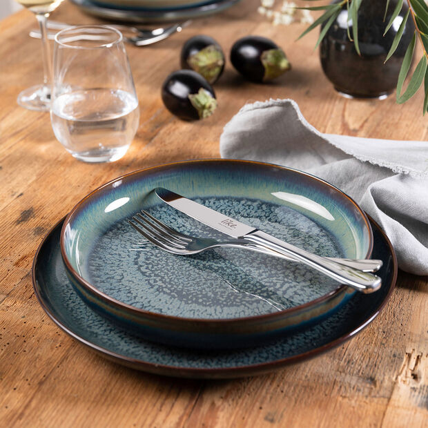 Crafted Breeze plato hondo, gris azulado, 21,5 cm, , large
