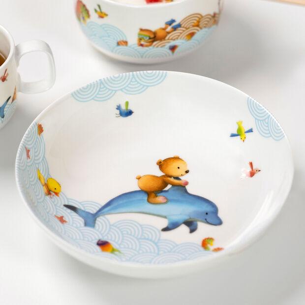 Happy as a Bear Plato hondo niños 18,5x18,5x4,5cm, , large