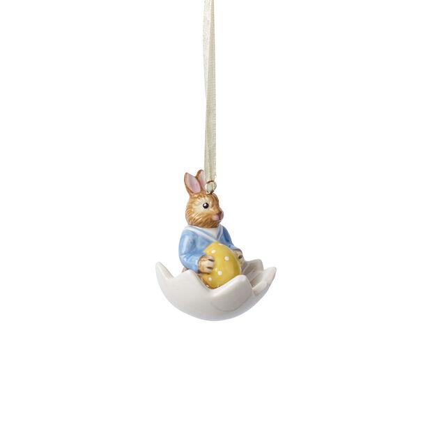 Bunny Tales ornamento Max nella ciotola uovo, , large