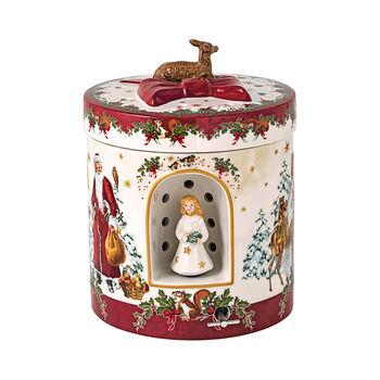 Christmas Toy's pacchetto regalo grande rotondo Gesù bambino, 17 x 17 x 21,5 cm