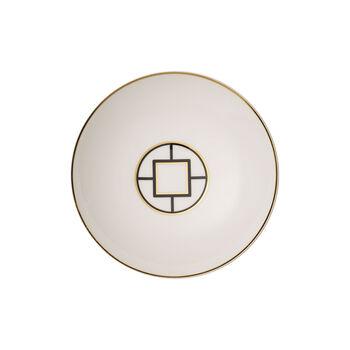 MetroChic plato hondo, diámetro de 20 cm, profundidad de 5 cm, blanco, negro y oro
