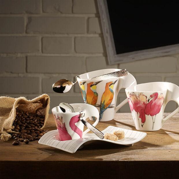 NewWave Caffè fenicottero rosa Bicchiere con manico(imballaggio regalo), , large