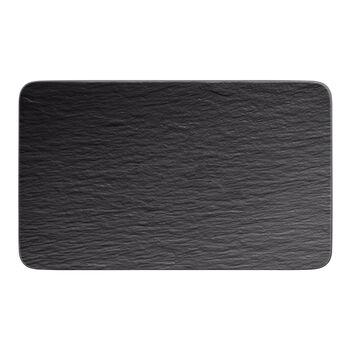 Manufacture Rock piatto multifunzione rettangolare, nero/grigio, 28 x 17 x 1 cm