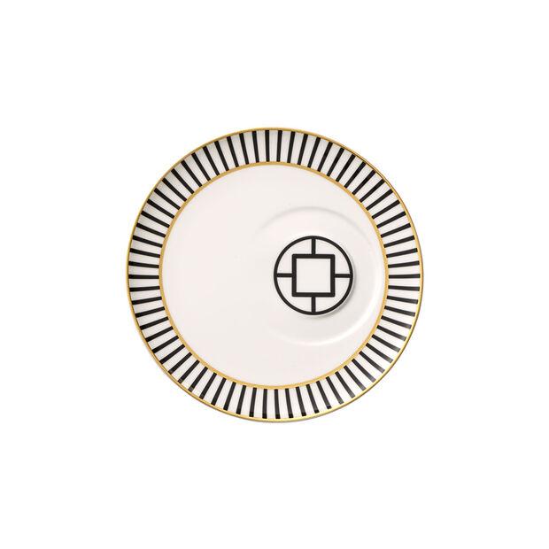 MetroChic piattino per tazza da caffè, diametro 18,5 cm, bianco-nero-oro, , large