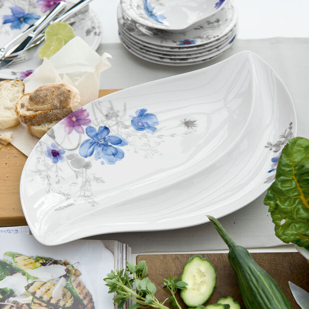 Mariefleur Gris Serve & Salad Piatto a servire 50x30cm, , large