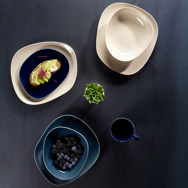 Organic Dark Blue piatto da colazione, blu scuro, 21 cm, , large