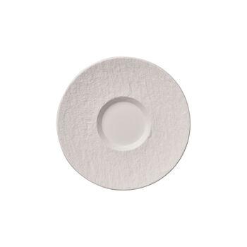 Manufacture Rock Blanc piattino per tazza da caffellatte, 17 cm