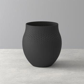 Manufacture Collier noir Vaso Perle grande 16,5x16,5x17,5cm