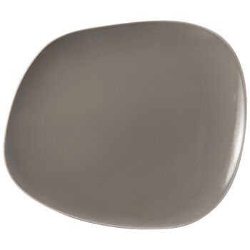 Organic Taupe plato llano, marrón topo, 28 x 24 x 3 cm