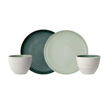 like.by Villeroy & Boch it's my match mineral set da colazione, 4 pezzi, per 2 persona