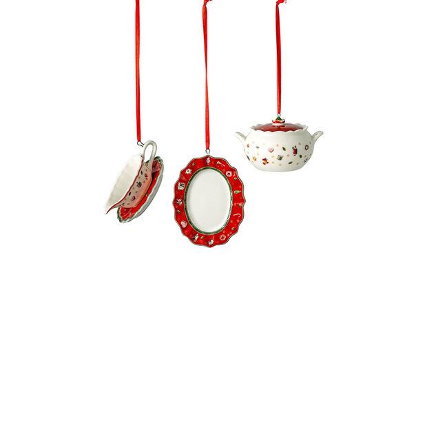 Toy's Delight Decoration set de ornamentos con motivo de vajilla para servir, 3 x 6 cm, 3 artículos, , large