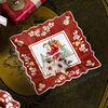 Toy's Fantasy fuente cuadrada con motivo de Papá Noel en el tejado, rojo/varios colores, 23 x 23 x 3,5cm, , large