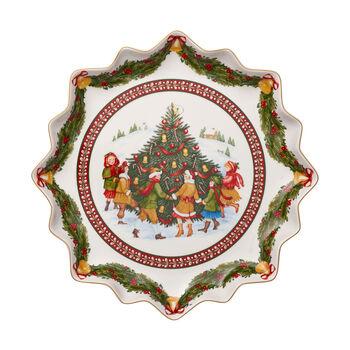 Toy's Fantasy piatto da pasticcini fondo, rosso/multicolore, 39 x 39 x 3,5 cm