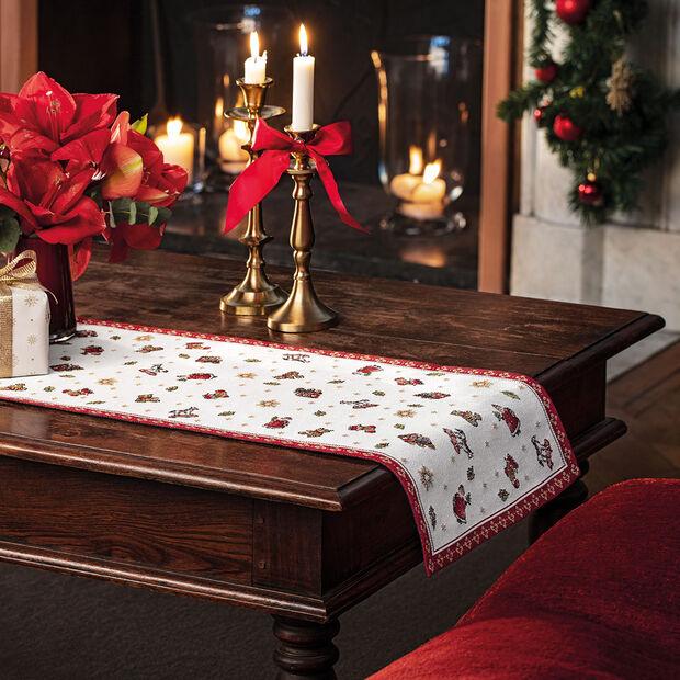 Toy's Delight camino de mesa L de tapiz, rojo/varios colores, 32 x 96cm, , large