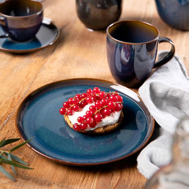 Crafted Denim piatto da colazione, blu, 21 cm, , large
