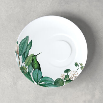 Plato para taza de café Avarua, 18,5cm, blanco/multicolor