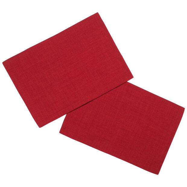 Textil Uni TREND Tovaglietta rosso 2 pz. 35x50cm, , large