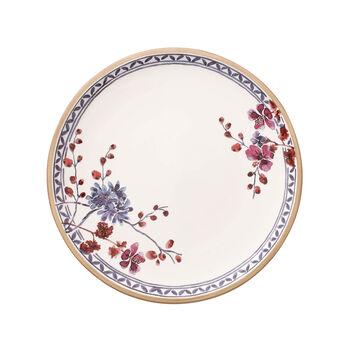 Artesano Provençal Lavanda plato llano con decoración floral