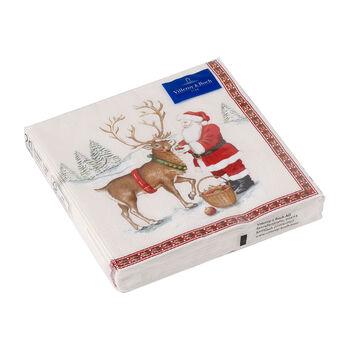 Winter Specials tovagliolo da pranzo, motivo renna, marrone/multicolore, 20 pezzi, 33 x 33 cm