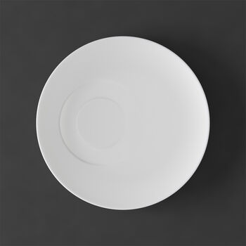 MetroChic blanc Piattino tazza tè 18,5x18,5x2cm