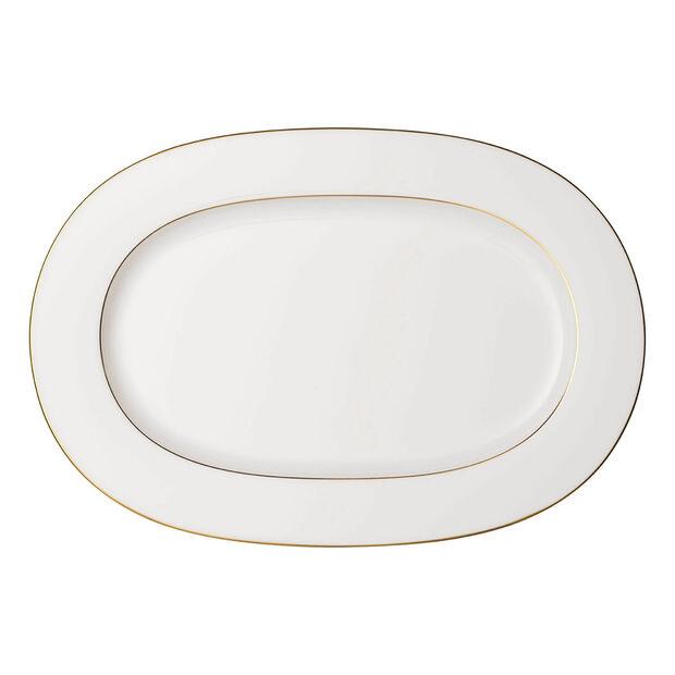 Anmut Gold piatto ovale, lunghezza 41 cm, bianco/oro, , large