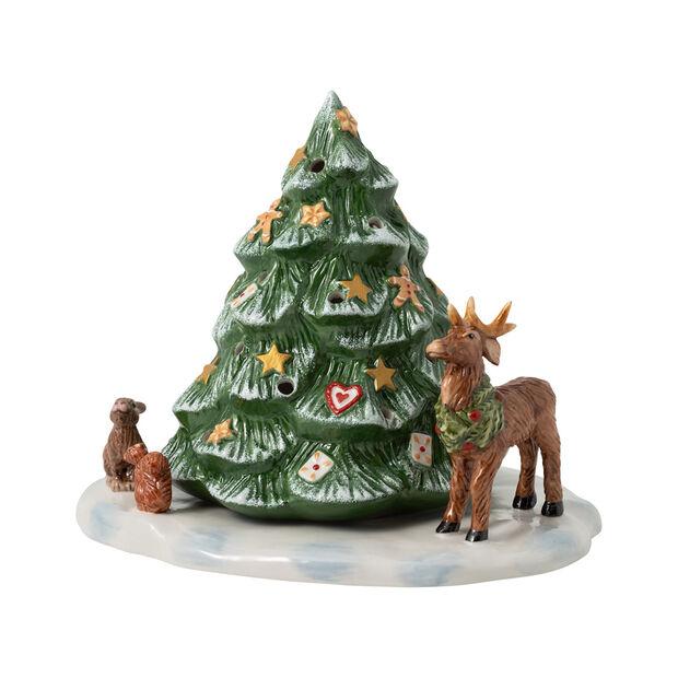 Christmas Toys figura de árbol de Navidad con animales del bosque, 23 x 17 x 17 cm, , large