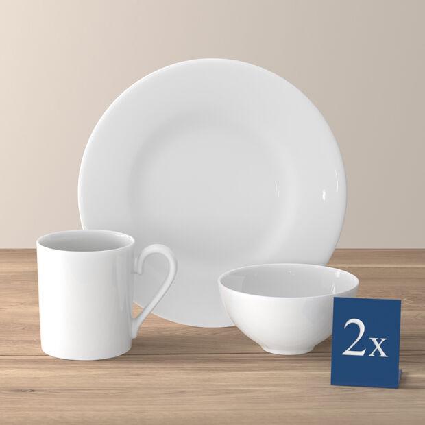 Royal set da colazione per due persone 6 pezzi, , large