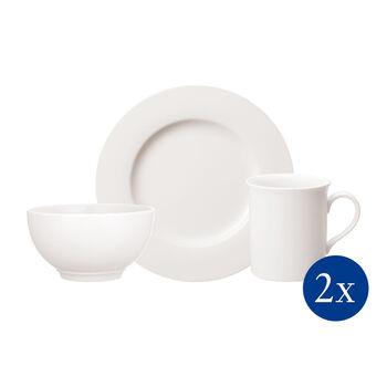 Twist White set da colazione per due persone 6 pezzi